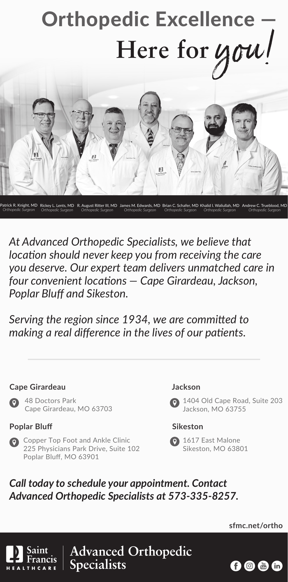 Saint Francis Medical - Orthopedic Excellence | Daily